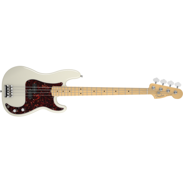 American Standard Precision Bass Guitar -Maple Fingerboard - Olympic White