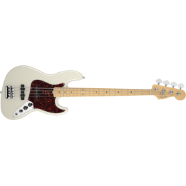 Fender  American Standard Jazz Bass Maple w/ Case in Olympic White