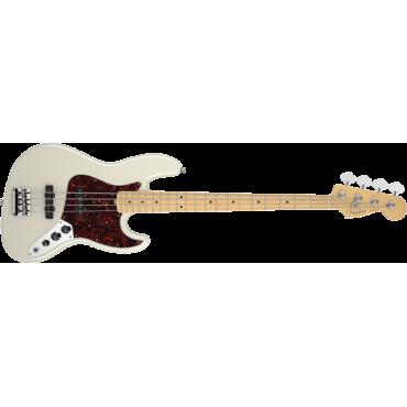 Fender  American Standard Jazz Bass Maple w/ Case in Olympic White