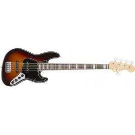 Fender American Elite Jazz Basss V Rosewood Fingerboard - 3-Tone Sunburst