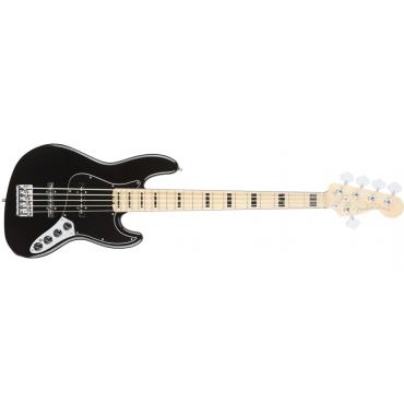 Fender American Elite Jazz Basss V Maple Fingerboard - Black