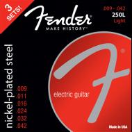 Fender 3-Pack Super 250's Nickel-Plated Steel Strings
