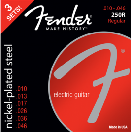 Fender 3-Pack Super 250's Nickel-Plated Steel Strings