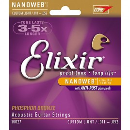 Elixir Acoustic Guitar Phosphor NanoWeb 16027