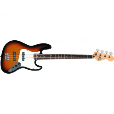 Fender Standard Jazz Bass®, Rosewood Fingerboard, Brown Sunburst, 3-Ply Parchment Pickguard, No Bag