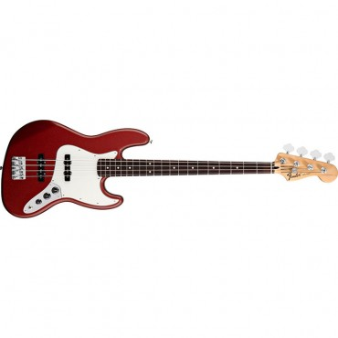 Fender Standard Jazz Bass®, Rosewood Fingerboard, Candy Apple Red, 3-Ply Parchment Pickguard, No Bag