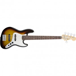 Fender Standard Jazz Bass® V (Five String), Rosewood Fingerboard, Brown Sunburst, 3-Ply Parchment Pi