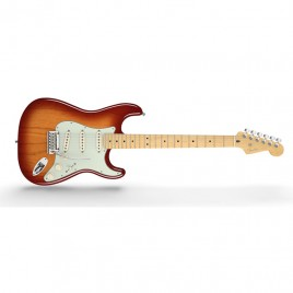 Fender American Deluxe Stratocaster® Ash, Maple Fingerboard, Aged Cherry