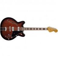 Fender Coronado Guitar, Rosewood Fingerboard, Black Cherry Burst