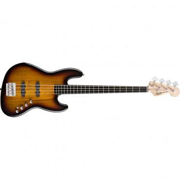 Squier® Deluxe Jazz Bass® IV Active (4 String), Ebonol Fingerboard, 3-Color Sunburst