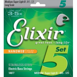 Elixir Bass Guitar Nanoweb 14877