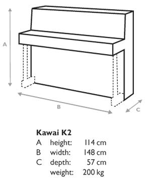 đàn piano Kawai K-2