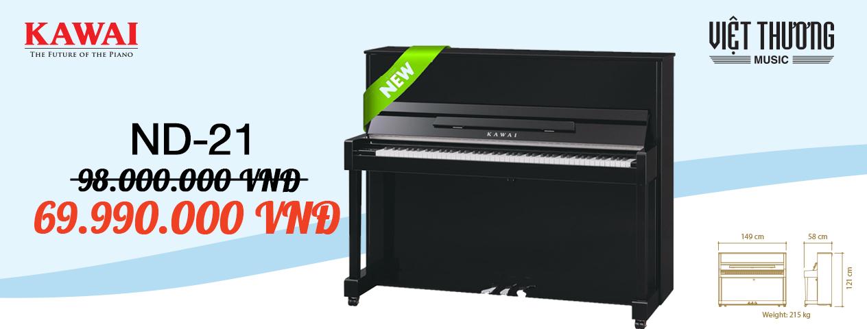 Những lý do nên chọn mua đàn piano Kawai ND-21